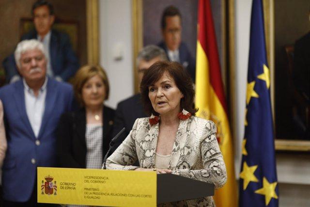 Calvo en la toma de posesión de los secretarios de Estado de su Ministerio
