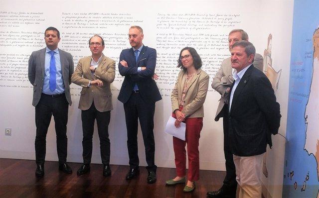 Presentación de una exhibición sobre la conservación del Camino de Santiago.