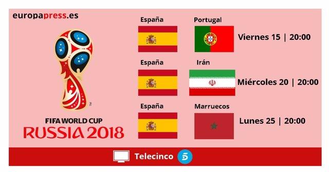 Primeros partidos de España en el Mundial de fútbol de Rusia