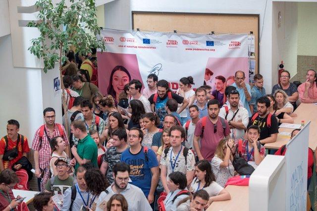 Jovenes con discapacidad participan en el 'Game de Empleo' de Fundación ONCE