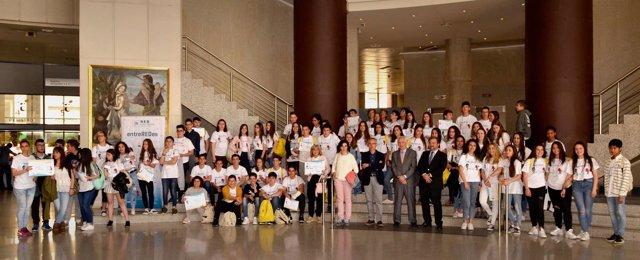 Participantes en las finales de la II Olimpiada entreREDes