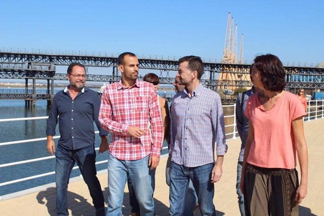 Diputados andaluces de IU con Maíllo