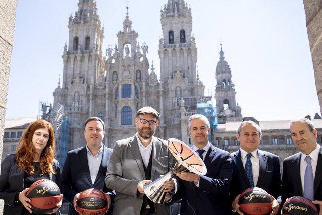 Presentación de la Supercopa Endesa en Santiago de Compostela