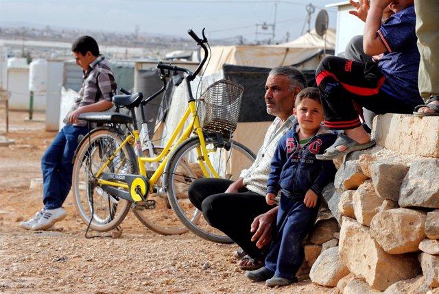 Refugiados sirios en el campo Zaatari (Jordania)