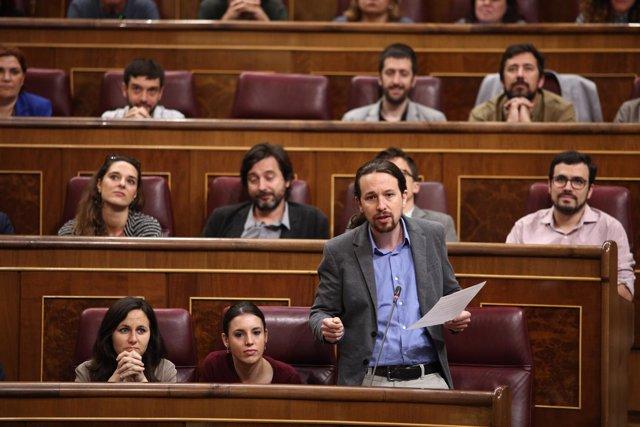 Pabli Iglesias, secretario general de Podemos
