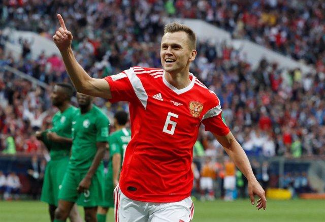 Cheryshev se luce y Rusia golea para empezar