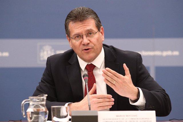 El vicepresidente de la Comisión Europea, Maros Sefcovic