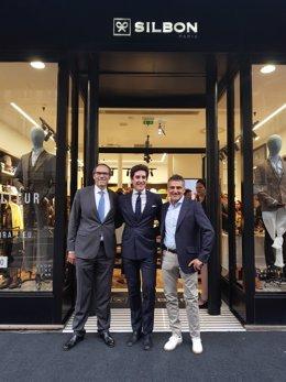 Pablo López, CEO Silbon; José Michael García y Stephan Houdet