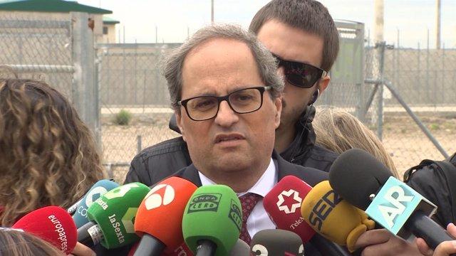 Torra visita a los exconsellers presos en Estremera