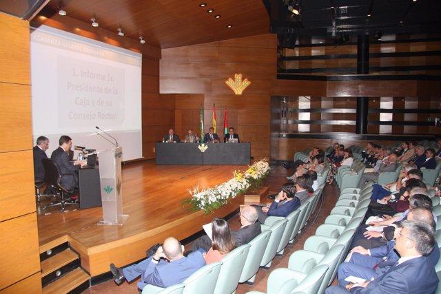 Celebración de la asamblea general de Caja Rural de Granada
