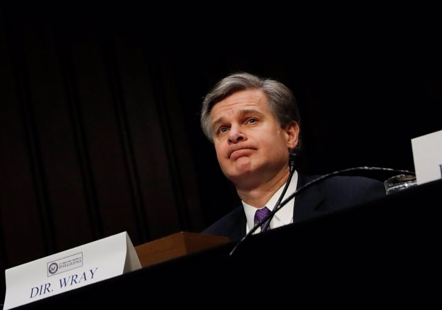 Christopher Wray, director del FBI, en el Senado