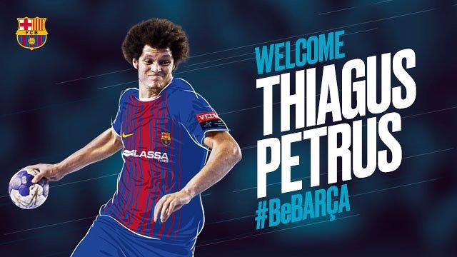 El Barça ficha al lateral izquierdo brasileño Thiagus Petrus