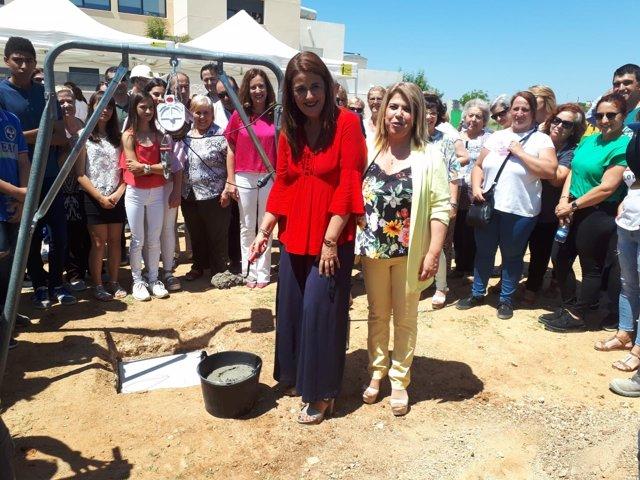 La consejera de Educación, Sonia Gaya, iniciando obras de nuevo IES en Jerez