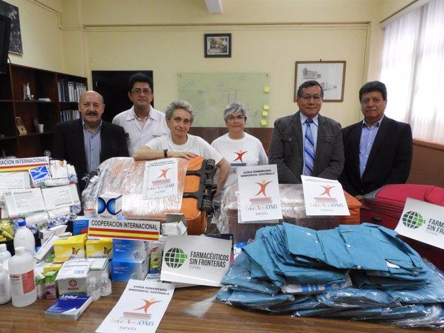 Farmacéuticos Sin Fronteras envía 150 kilos de medicamentos a Guatemala