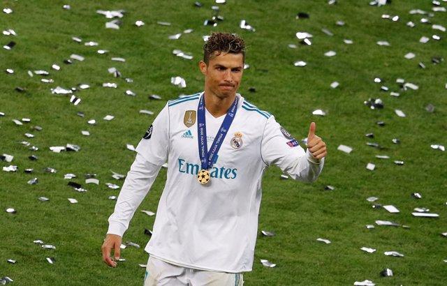 Cristiano Ronaldo tras ganar la Champions