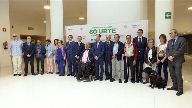 Vitoria acoge la celebración del Día de la ONCE en Euskadi