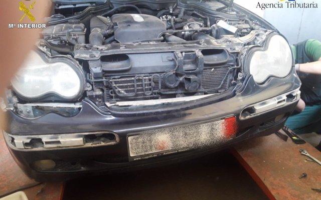 Detenida en Melilla una persona con 4.500 gramos de hachís ocultos en su coche