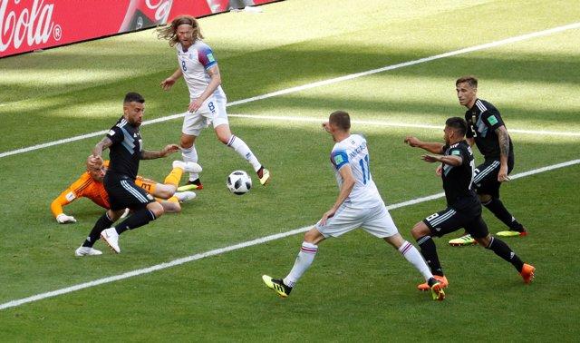 Soccer Football - World Cup - Group D - Argentina vs Iceland - Spartak Stadium,