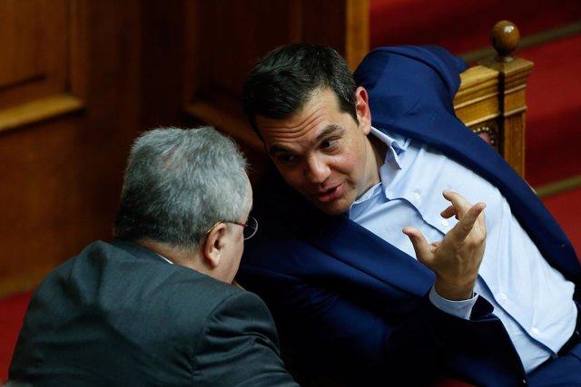 El primer ministro griego, Alexis Tsipras, en el Parlamento