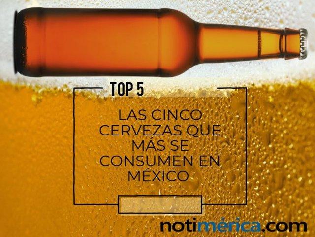 Las 5 cervezas que más se consumen en México