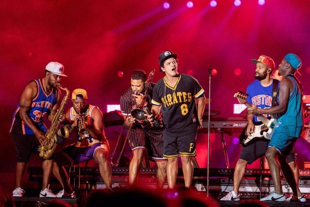 May 27, 2018 - Napa, California, U.S - BRUNO MARS during BottleRock Music Festiv