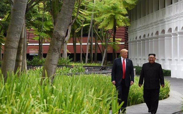 Trump defiende la posible suspensión de los ensayos con Corea del Sur para facilitar las negociaciones con el Norte