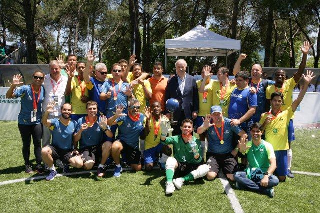 Brasil, campeona del Mundial de Fútbol para Ciegos Vicente del Bosque