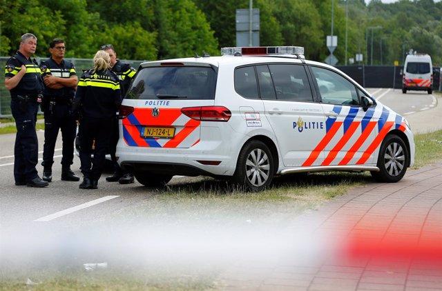 Police is seenImagen de la Policía de Holanda tras el atropello de una furgoneta