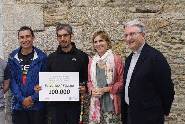 Acto de recibimiento del peregrino 100.000 del 2018