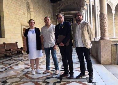 """La UGT i CCOO demanen a Torra recuperar un """"espai de diàleg social permanent"""" (EUROPA PRESS)"""