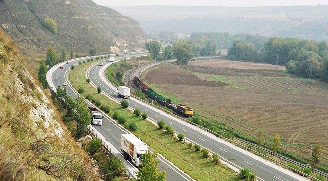 La autopista AP-1 Burgos-Armiñón