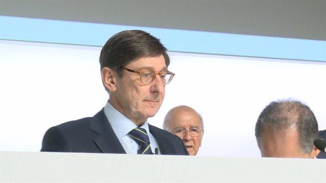 Jose Ignacio Goirigolzarri, en la octava Junta de Accionistas de Bankia