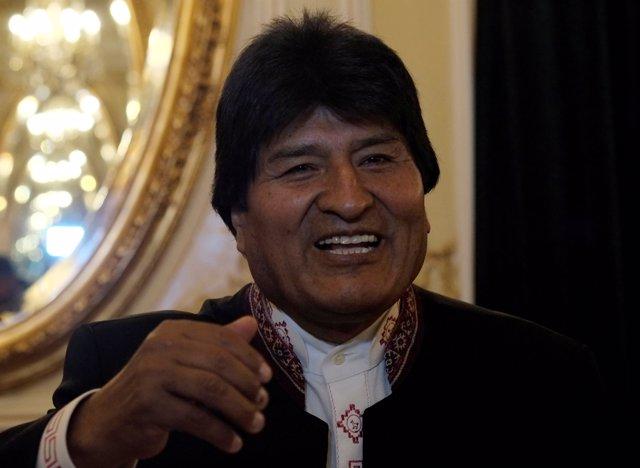 El presidente de Bolivia, Evo Morales, en Madrid