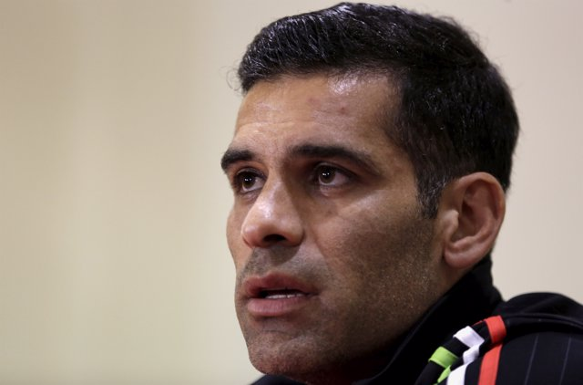 Mexico's soccer player Rafa Marquez addresses a news conference in Lima June 2,