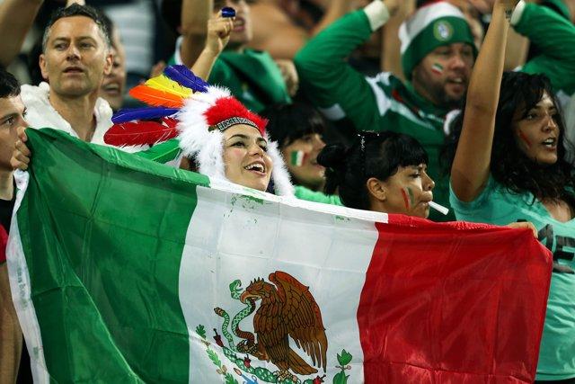 Hinchas de la selección de fútbol de México
