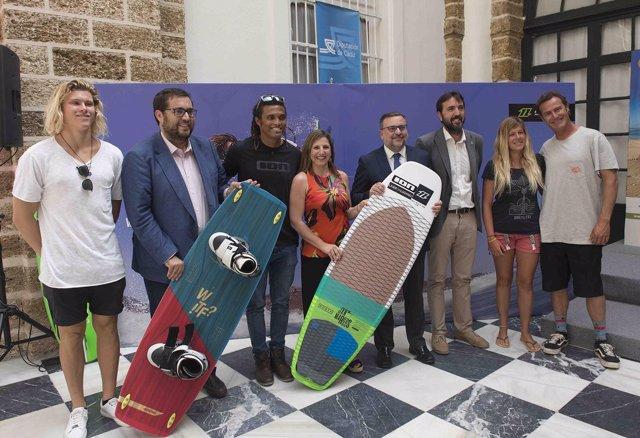Presentación del mundial de kitesurf de Tarifa