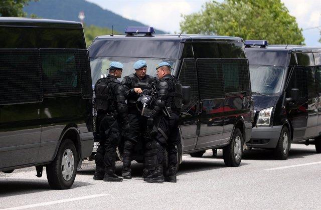 Policía bosnia