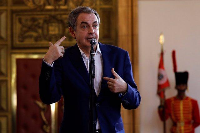 El expresidente del Gobierno español José Luis Rodríguez Zapatero en Venezuela