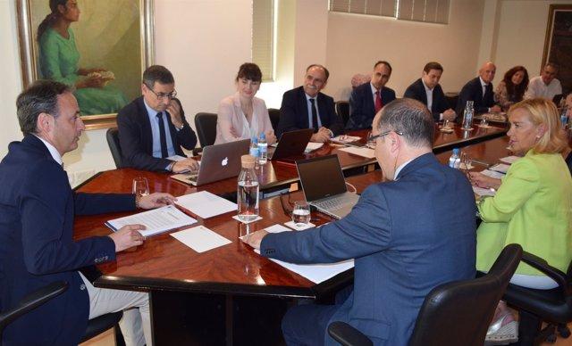 Celdrán Preside La Reunión Del Consejo Interuniversitario De La Región