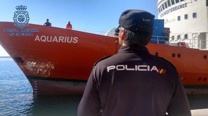 """El 'Aquarius' zarpará """"probablemente"""" este miércoles del puerto de Valencia para continuar con los rescates"""