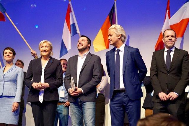 Los líderes de la extrema derecha europea en Coblenza