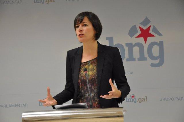 Ana Pontón en rueda de prensa.