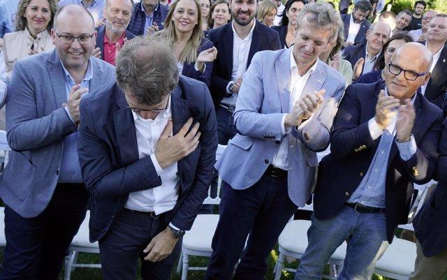 Los presidentes del PPdeG creen que la decisión de Feijóo muestra su 'generosidad' y 'compromiso con Galicia'