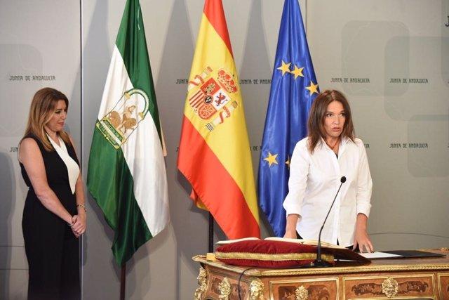 Lina Gálvez, en su toma de posesión como consejera de la Junta