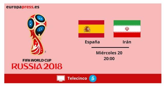 Mundial de Rusia 2018: Horario y dónde ver el España-Irán
