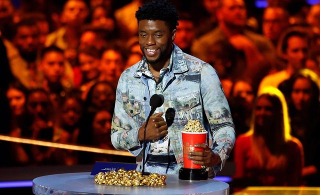 Boseman, protagonista de Black Panther, en los MTV Movie Awards