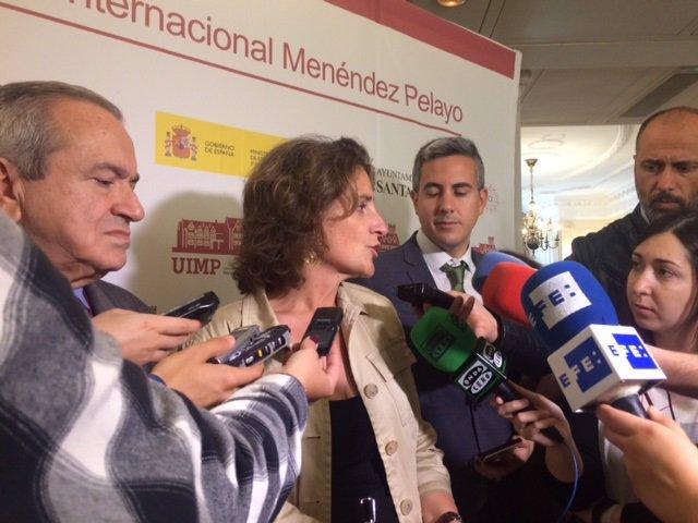 Teresa Ribera, ministra de Transición Ecológica en la UIMP