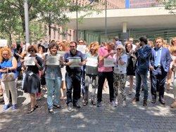 Un centenar de lletrats es concentren a Barcelona per una millora salarial (EUROPA PRESS)