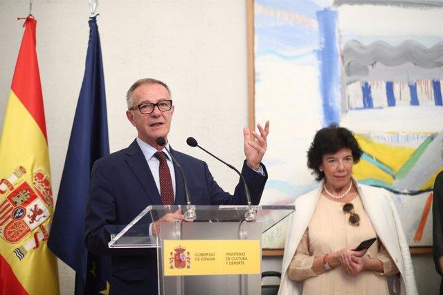 El nuevo ministro de Cultura y Deporte, José Guirao, toma posesión