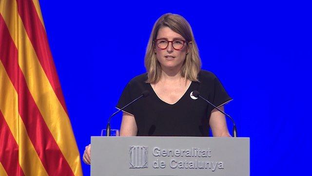 Elsa Artadi en la Generalitat de Catalunya